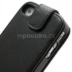 Flipové pouzdro pro iPhone 4, 4s- černé - 7