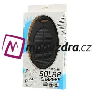 5000mAh solární vodotěsná Power Bank nabíječka - černá - 7