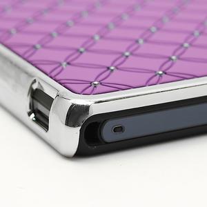 Drahokamové pouzdro na Sony Xperia Z L36i C6603- fialové - 7