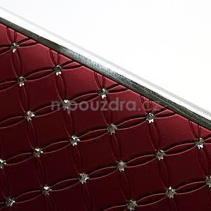 Drahokamové pouzdro pro HTC one M7- červené - 7
