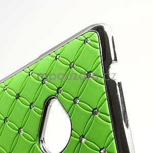 Drahokamové pouzdro pro HTC one M7- zelené - 7