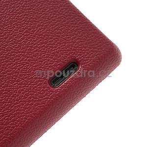 Texturované pouzdro pro LG Optimus L7 P700- červené - 7