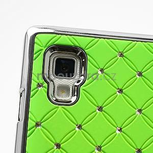 Drahokamové pouzdro pro LG Optimus L9 P760- zelené - 7
