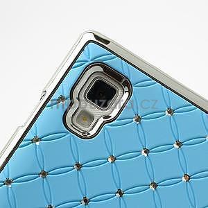 Drahokamové pouzdro pro LG Optimus L9 P760- světlemodré - 7