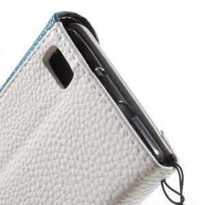 Luxusní peněženkové pouzdro na Huawei P8 Lite - bílé / modrozelené - 7