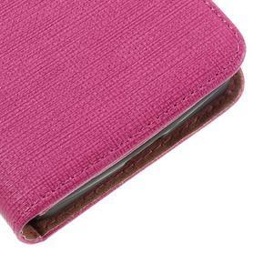 Cloth PU kožené pouzdro na mobil Microsoft Lumia 550 - rose - 7