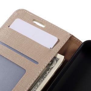 Cloth PU kožené pouzdro na mobil Microsoft Lumia 550 - champagne - 7