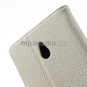 Peněženkové pouzdro pro Nokia Lumia 1320- bílé - 7