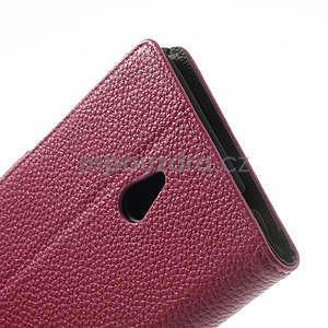 Peněženkové pouzdro pro Nokia Lumia 1320- růžové - 7