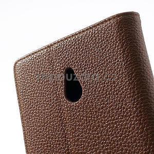 Peněženkové pouzdro pro Nokia Lumia 1320- hnědé - 7