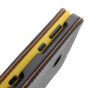 Flipové černé pouzdro na Nokia Lumia 520 - 7