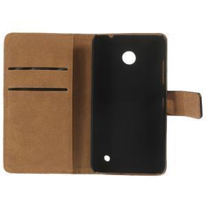 Peněženkové pouzdro na Nokia Lumia 630- černé - 7