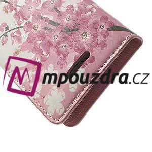 Peněženkové pouzdro na Sony Xperia L C2105- kvetoucí větvička - 7
