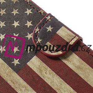 Peněženkové pouzdro na Sony Xperia Z1 Compact D5503 - USA vlajka - 7