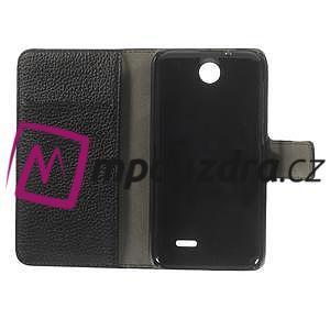 Peněženkové PU kožené pouzdro na HTC Desire 310- černé - 7