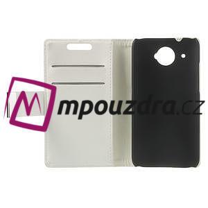 Peněženkové PU kožené pouzdro na HTC Desire 601- bílé - 7