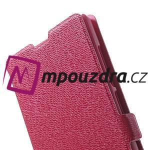 Peněženkové pouzdro na Xiaomi Hongmi Note- růžové - 7