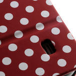 Peněženkové pouzdro na Samsung Galaxy S4 mini i9190- puntíkaté červené - 7/7