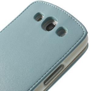 Flipové pozdropro Samsung Galaxy S3I i9300 - světle-modré - 7