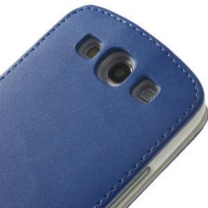 Flipové pozdropro Samsung Galaxy S3 i9300 - modré - 7