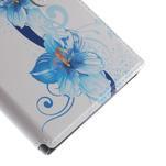 Flipové pouzdro na Xiaomi Mi3- modrá lilie - 7/7