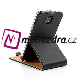 Flipové PU kožené pouzdro na Samsung Galaxy Note 3- černé - 7