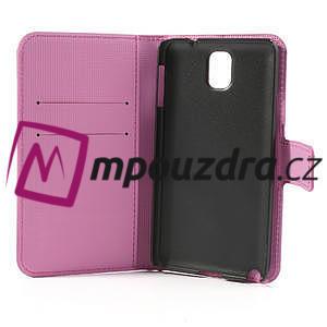 Peněženkové pouzdro na Samsung Galaxy Note 3- barevné motýlci - 7