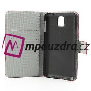 Peněženkové pouzdro na Samsung Galaxy Note 3- motýlci - 7