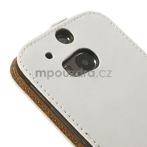 Flipové pouzdro pro HTC one M8- bílé - 7