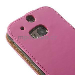 Flipové pouzdro pro HTC one M8-růžové - 7