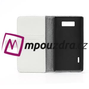 Peněženkové pouzdro na LG Optimus L7 P700 - bílé - 7