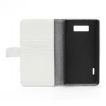 Peněženkové pouzdro na LG Optimus L7 P700 - bílé - 7/7