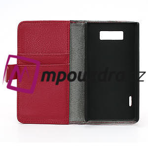 Peněženkové pouzdro na LG Optimus L7 P700 - červené - 7
