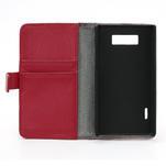 Peněženkové pouzdro na LG Optimus L7 P700 - červené - 7/7