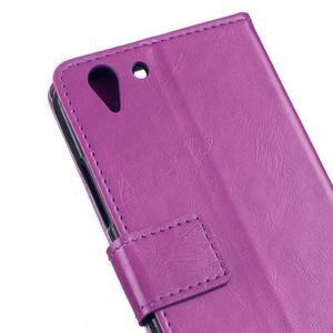 Knížkové PU kožené pouzdro na Lenovo Vibe K5 / K5 Plus - fialové - 7