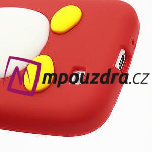 Silikonový Tučňák pouzdro pro Samsung Galaxy S4 i9500- červený - 7