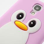 Silikonový Tučňák pouzdro pro Samsung Galaxy S4 i9500- světle-růžový - 7/7