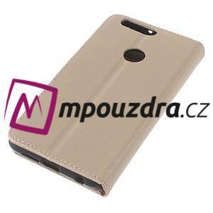 Clothy peněženkové pouzdro na mobil Honor 8 - zlaté - 7