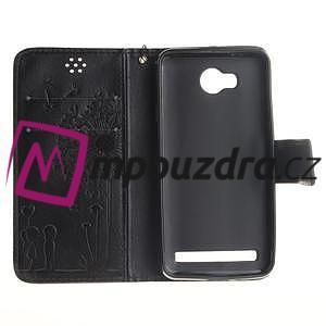 Dandelion PU kožené pouzdro na mobil Huawei Y3 II - černé - 7