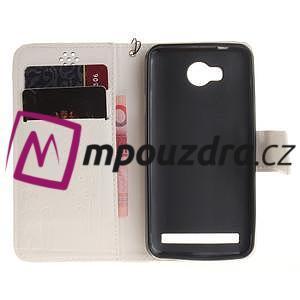 Dandelion PU kožené pouzdro na mobil Huawei Y3 II - bílé - 7