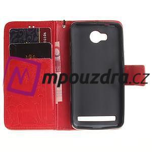 Dandelion PU kožené pouzdro na mobil Huawei Y3 II - červené - 7