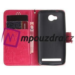 Dandelion PU kožené pouzdro na mobil Huawei Y3 II - rose - 7