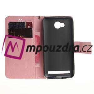 Dandelion PU kožené pouzdro na mobil Huawei Y3 II - růžové - 7