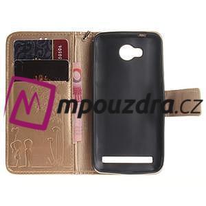 Dandelion PU kožené pouzdro na mobil Huawei Y3 II - zlaté - 7