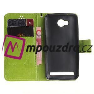 Dandelion PU kožené pouzdro na mobil Huawei Y3 II - zelené - 7