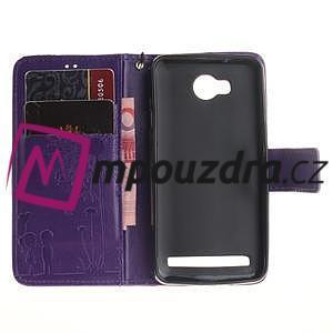 Dandelion PU kožené pouzdro na mobil Huawei Y3 II - fialové - 7