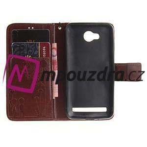 Dandelion PU kožené pouzdro na mobil Huawei Y3 II - hnědé - 7