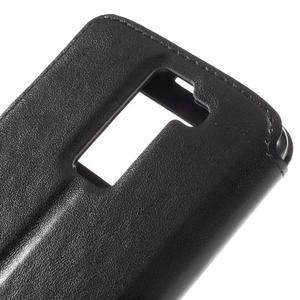 Richi PU kožené pouzdro na mobil LG K8 - černé - 7