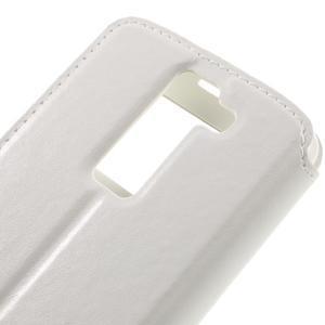 Richi PU kožené pouzdro na mobil LG K8 - bílé - 7