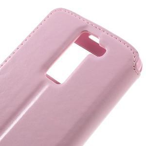 Richi PU kožené pouzdro na mobil LG K8 - růžové - 7